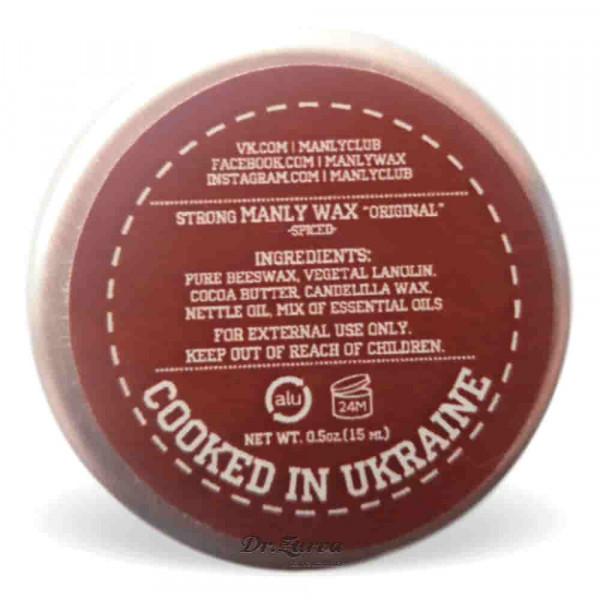Віск для вусів Manly Wax SPICED 15 мл