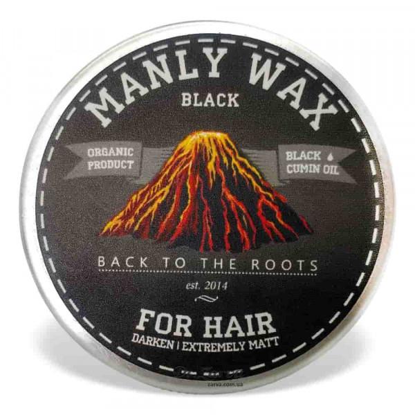 Віск для укладання волосся Manly BLACK Wax сильної фіксації 50 мл