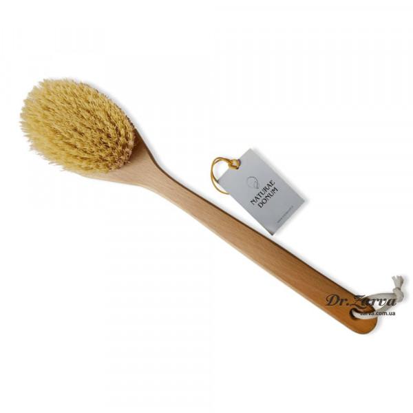 Щетка для тела из кактуса Naturae Donum с цельной ручкой