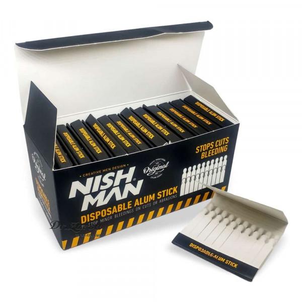 Квасцовые спички Nishman заживляющие (алунит) 24 уп. (480 шт)