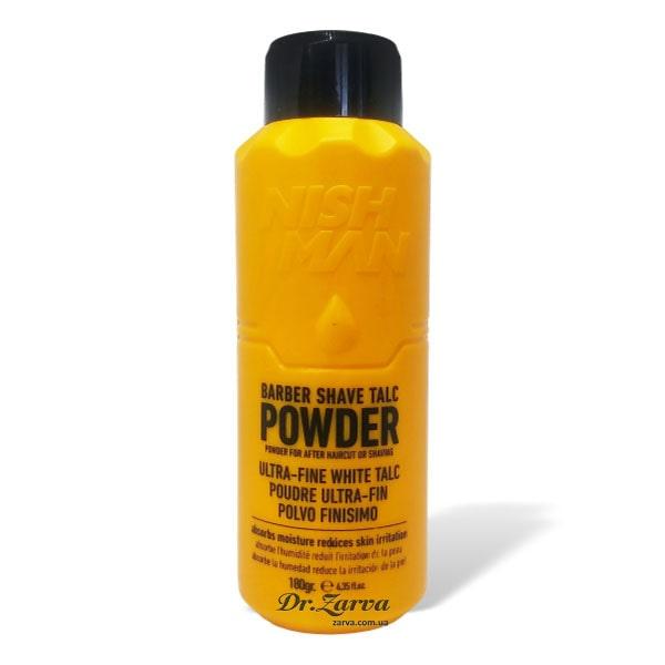 Пудра (тальк) для шкіри перукарський Nishman Barber Shave TALC POWDER 180 г