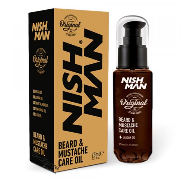 Масло для бороды Nishman BEARD & MUSTACHE CARE OIL 75 мл