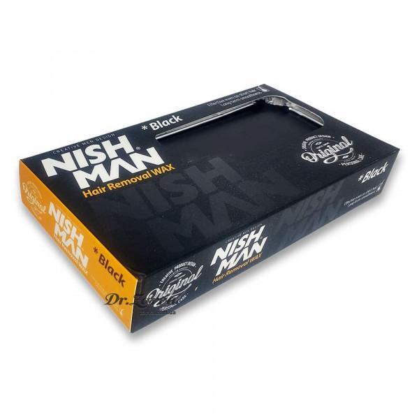 Воск для депиляции Nishman HAIR REMOVAL WAX BLACK 500 г