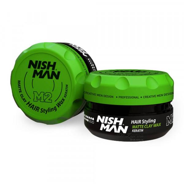 Глина для укладки волос Nishman MATTE CLAY M2 100 мл