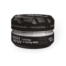 Окрашивающий воск для волос Черный Nishman Colouring Wax C3 Dark Black 100 мл
