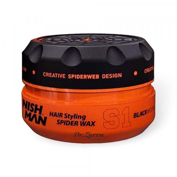 Віск-павутинка для укладання волосся Nishman SPIDER WAX S1 BLACK WIDOW 100 мл