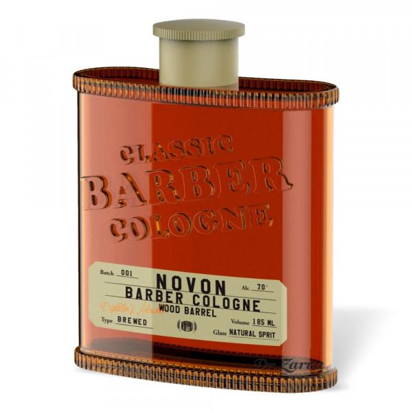 Одеколон Novon Classic Barber Cologne WOOD BARREL (оранжевый) 185 мл