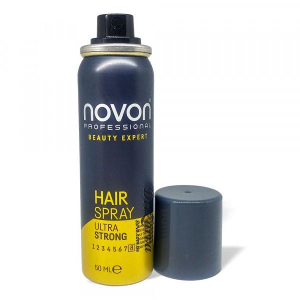 Лак для фиксации волос Novon MEN HAIR SPRAY ULTRA STRONG Compact 50 мл