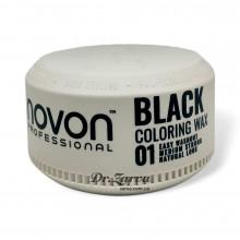 Помада для укладки и тонировки волос Novon COLORING WAX 01 BLACK 100 мл
