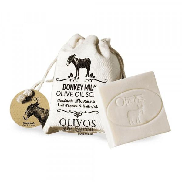 Натуральне оливкове мило Olivos DONKEY MILK з ослиним молоком (в мішечку) 150 г