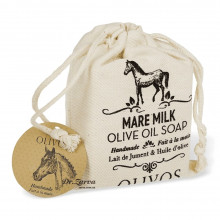 Натуральне оливкове мило Olivos MARE MILK з кінським молоком (в мішечку) 150 г