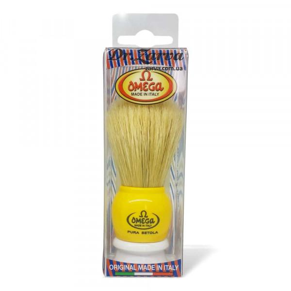Помазок для бритья Omega 10075 желтый Кабан