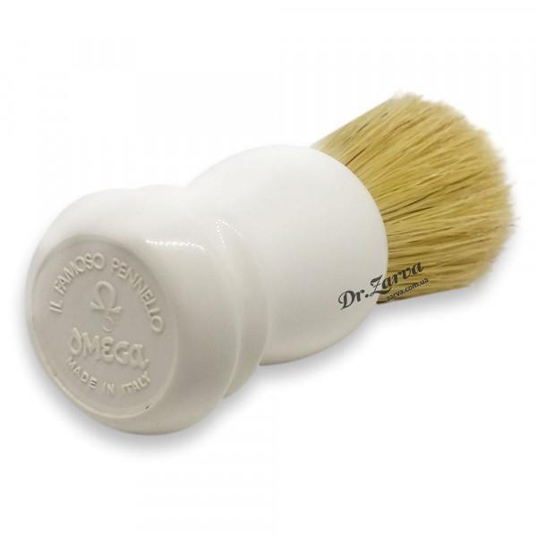Помазок для бритья Omega 10108 белый Кабан
