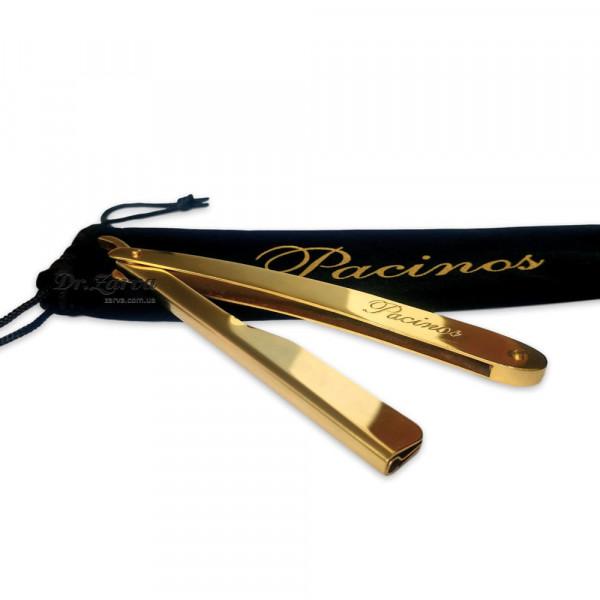 Опасная бритва со сменными лезвиями (шаветта) Pacinos GOLD PUSH RAZOR