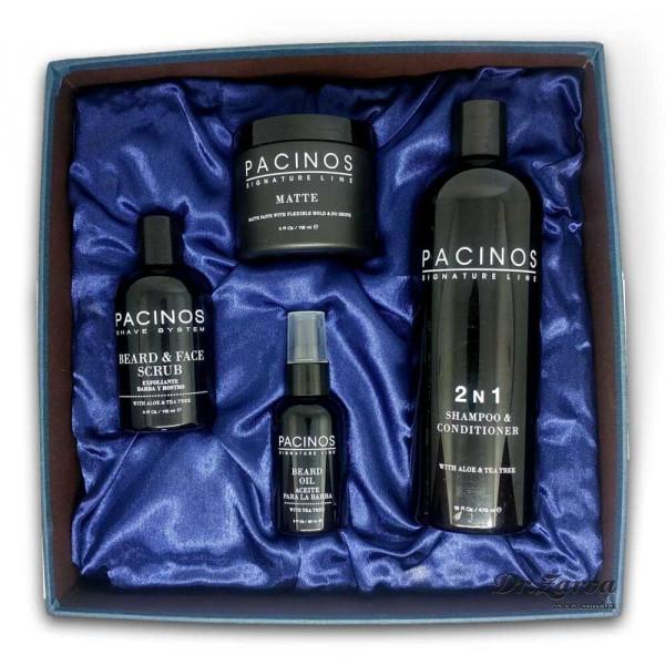 Набор по уходу за бородой и волосами Pacinos PREMIUM
