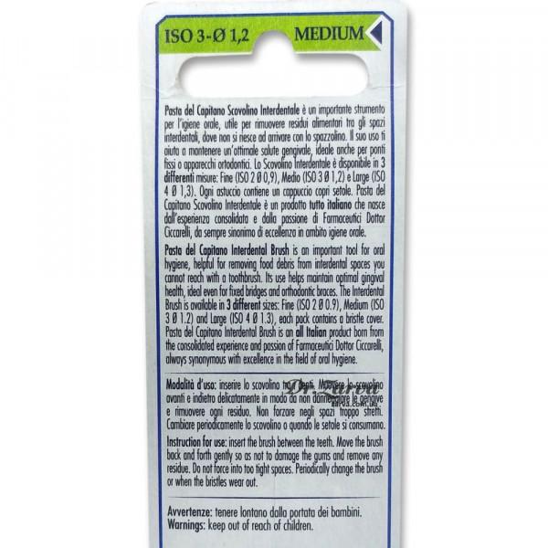 Межзубные ершики (щетки для межзубных промежутков) Pasta del Capitano Interdental Brush MEDIO ISO 3 Ø 1,2 мм, 5шт