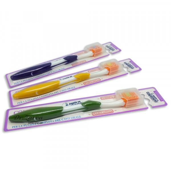 Зубная щетка Pasta del Capitano Toothbrush COMPLETE with Tongue Cleaner (желтая)