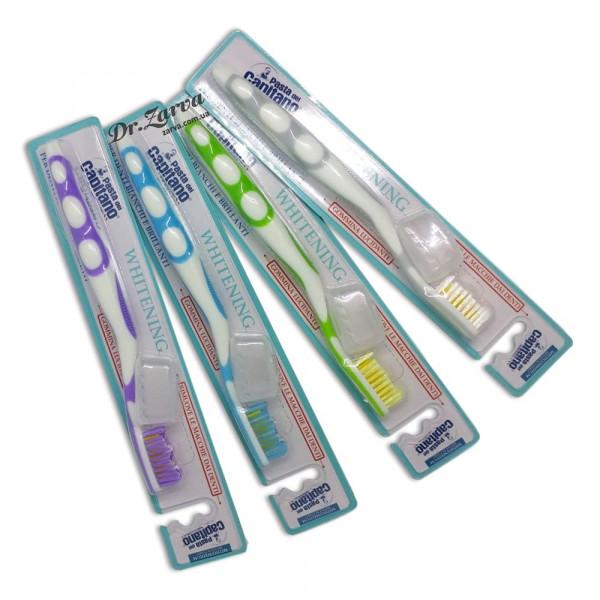 Зубная щетка Pasta del Capitano Toothbrush WHITENING with Polishing Rubber (серая)