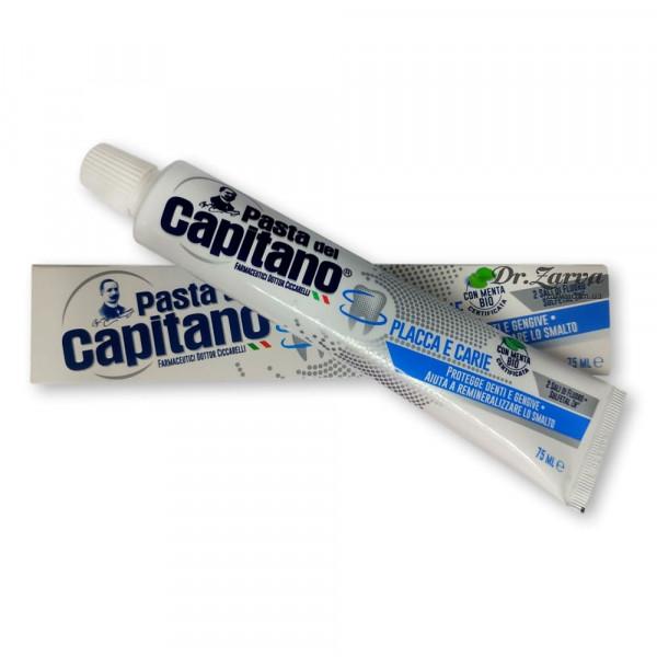 Зубная паста Pasta del Capitano PLAQUE & CAVITY против налета и кариеса 75 мл