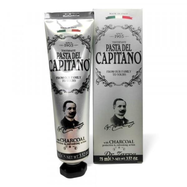 Зубная паста Pasta Del Capitano PREMIUM Charcoal с древесным углем
