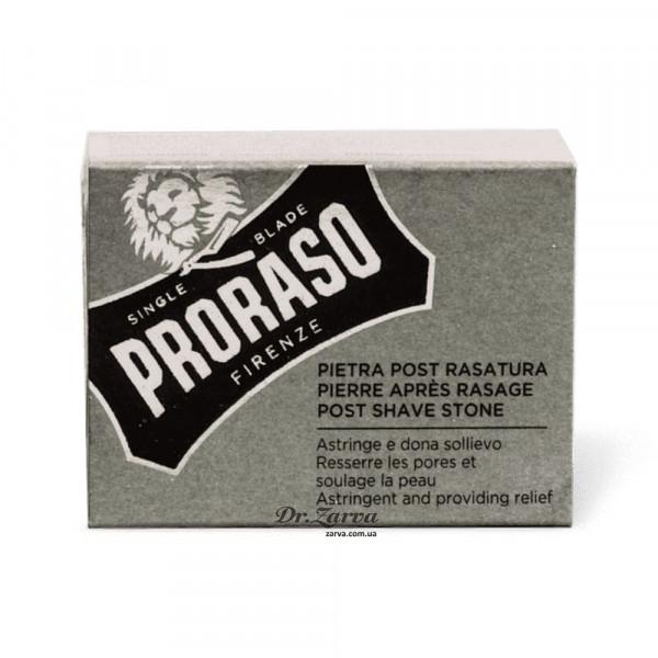 Квасец Proraso натуральный камень от порезов (алунит) ALUM STONE 100 г