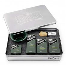 Набір для гоління Proraso CYPRESS & VETYVER SHAVING SET в металевій коробці (з 5-ти предметів)