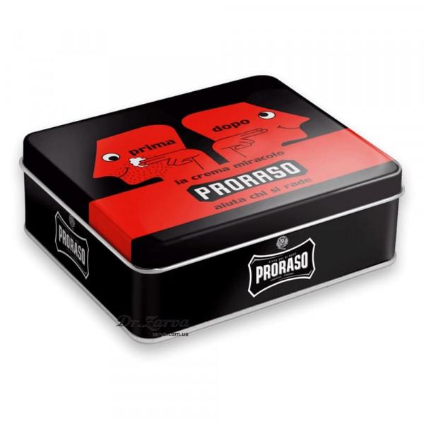 Набор для бритья Proraso Prima & Dopo для грубой щетины в металлической коробке