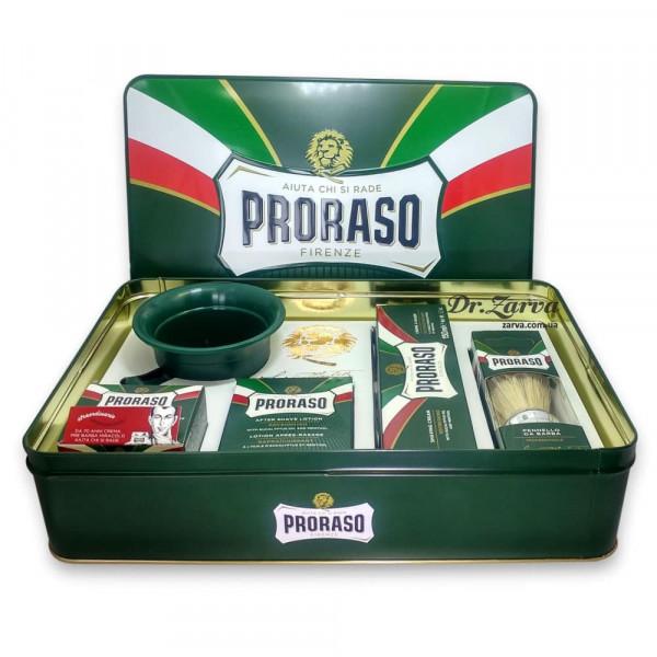 Набор для бритья Proraso CLASSIC SHAVING SET в металлической коробке (из 5-ти предметов)