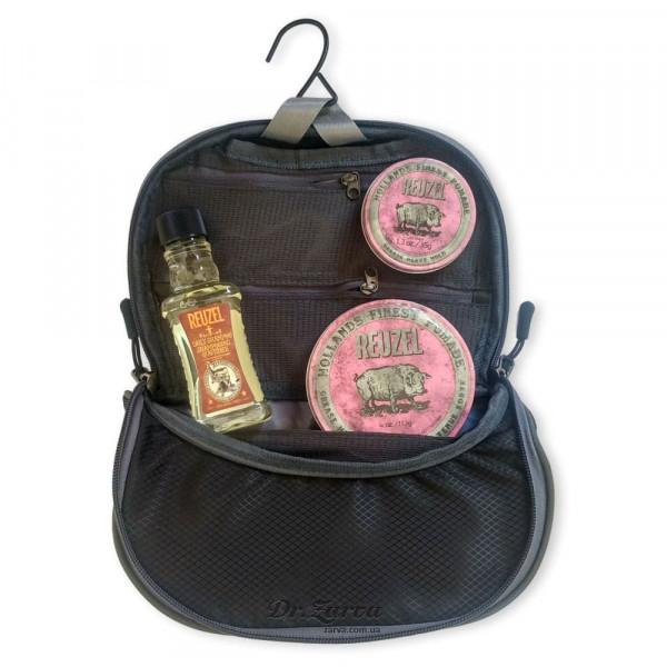 Набор для укладки и ухода за волосами Reuzel Pigs Can Fly Dopp Bag PINK в фирменном несессере