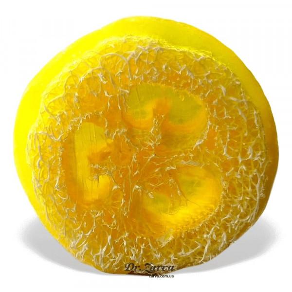 Мыло натуральное с люфой Sappo ЛИМОН 95 г