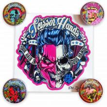 Большой брендовый стикер (наклейка) Scissor Hands 29*29 см