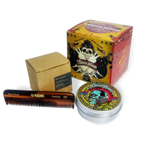 Набор для укладки волос STYLING PASTE, SOLID SHAMPOO + COMB Scissor Hands