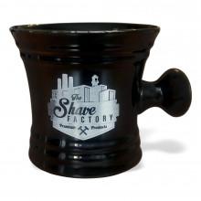 Чаша для взбивания пены The Shave Factory с ручкой (черная)