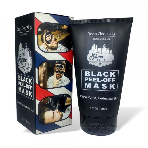 Черная маска для лица The Shave Factory BLACK PEEL OFF MASK 150 мл