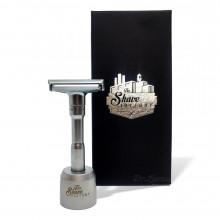 Станок для гоління Т-подібний The Shave Factory Safety Razor з регульованою висотою леза з підставкою