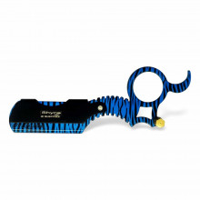 Опасная бритва со сменными лезвиями (шаветта) синяя Shyne UK - SHAVING RING RAZOR (Finger Razor)