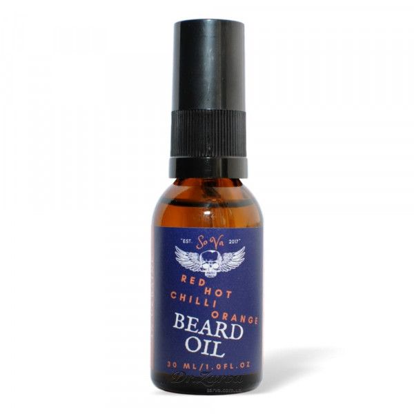 Масло для бороды Sova RED HOT CHILI ORANGE Beard Oil 30 мл