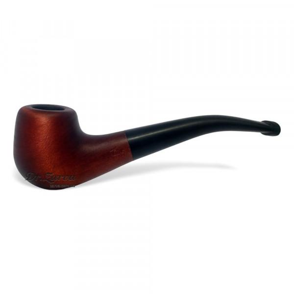 Трубка курительная из дерева груша гладкая (с охладителем)