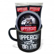 Набор для бритья и стайлинга волос Uppercut Deluxe в фирменной кружке