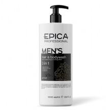 Шампунь Epica Professional For Men «3 в 1» для волос и тела 1000 мл